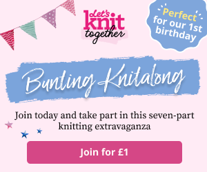 Bunting Knitalong Billboard Unpaid