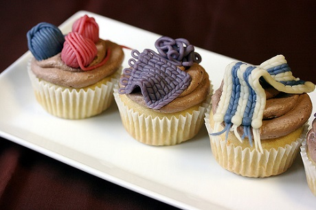 Cable Knit Cupcakes