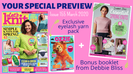 Exclusive Preview Of Let's Knit Issue 155 March 2020