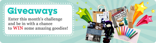 Enter this month's challenge and be in with a chance to WIN some amazing goodies!
