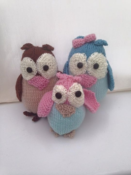 Owl family from LGC Knitting & Crochet issue 69
