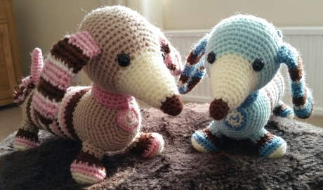 Molly and Max dachshunds from LGC Knitting & Crochet issue 69