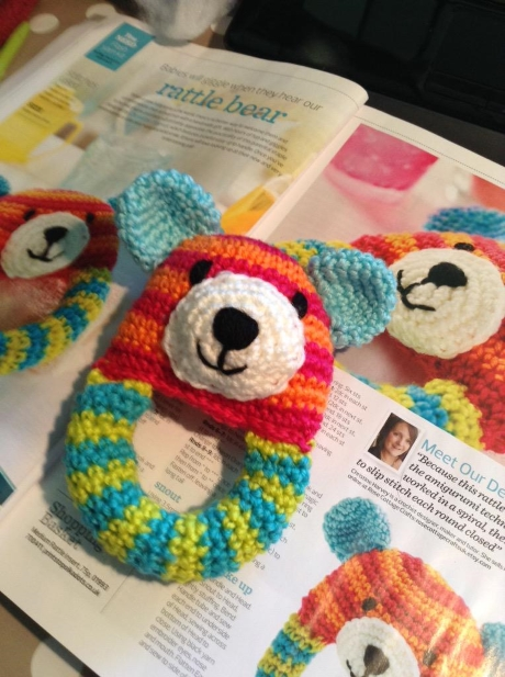 Rattle Bear from LGC Knitting & Crochet issue 71