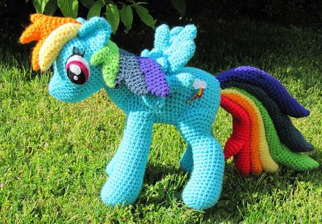 nerdy knitter rainbow dash my little pony crochet amigurumi pattern