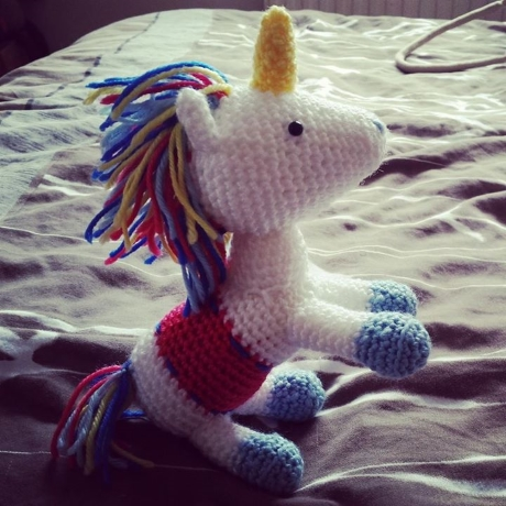 Meadow unicorn from LGC Knitting & Crochet issue 70