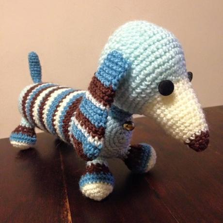 Max dacshund from LGC Knitting & Crochet issue 69