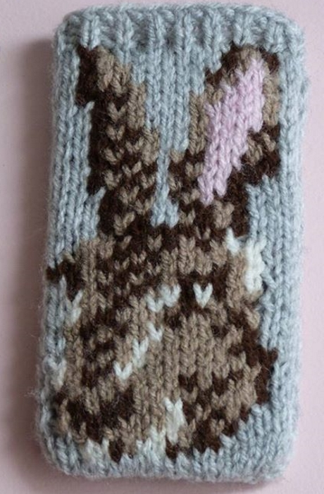 Phone cosy from LGC Knitting & Crochet issue 69