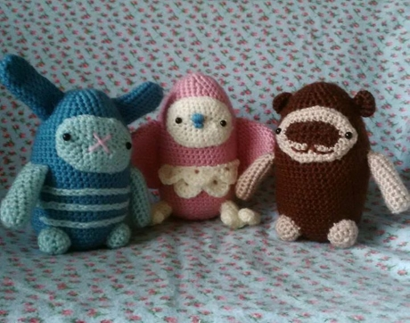 Cute and cuddly characters from LGC Knitting & Crochet issue 69