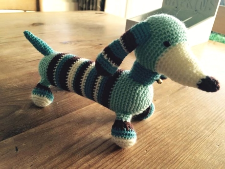 Max dachshund from LGC Knitting & Crochet issue 69