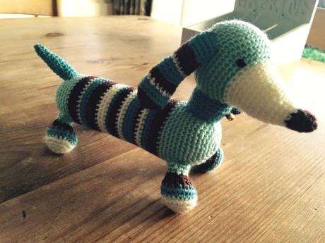 Max dachshund from LGC Knitting & Crochet issue 69