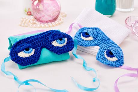 Eye masks from LGC Knitting & Crochet issue 72