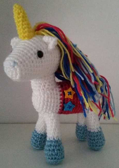 Meadow the unicorn from LGC Knitting & Crochet issue 70