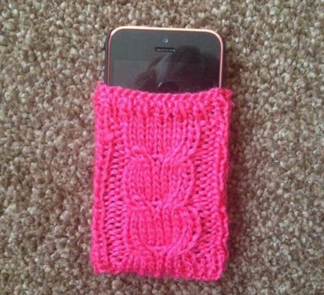 Phone cover from LGC Knitting & Crochet issue 70