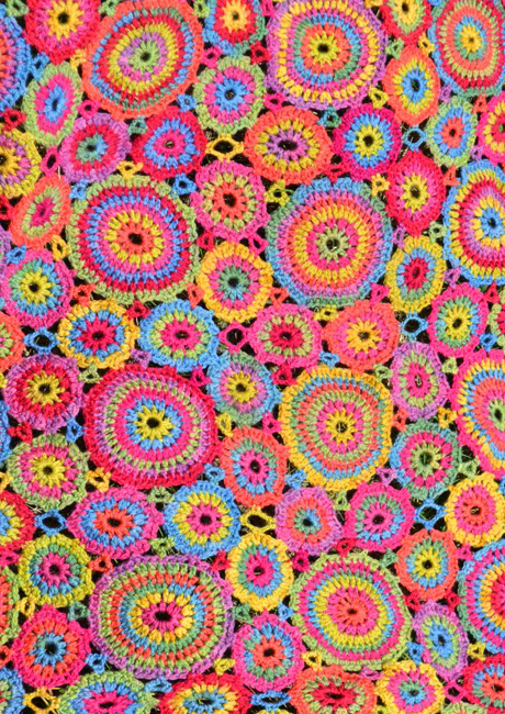 amanda circle crochet blanket