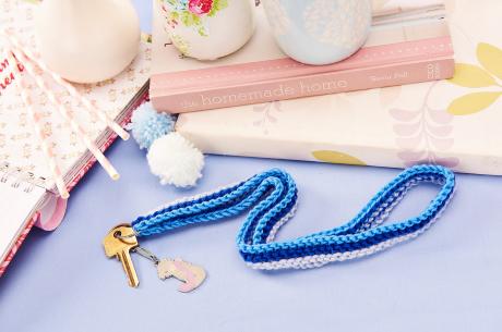 Handy lanyard from LGC Knitting & Crochet issue 72