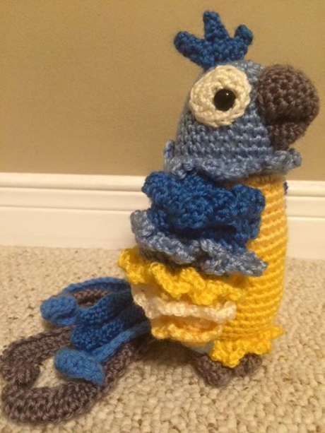 Diego parrot from LGC Knitting & Crochet issue 68