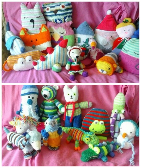Assorted toys from LGC Knitting & Crochet magazine