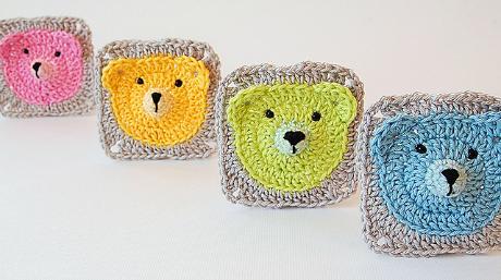 Our Top 5 Free Granny Square Patterns: Teddy Bear Granny Square<br />  by Dragana Savkov Bajic