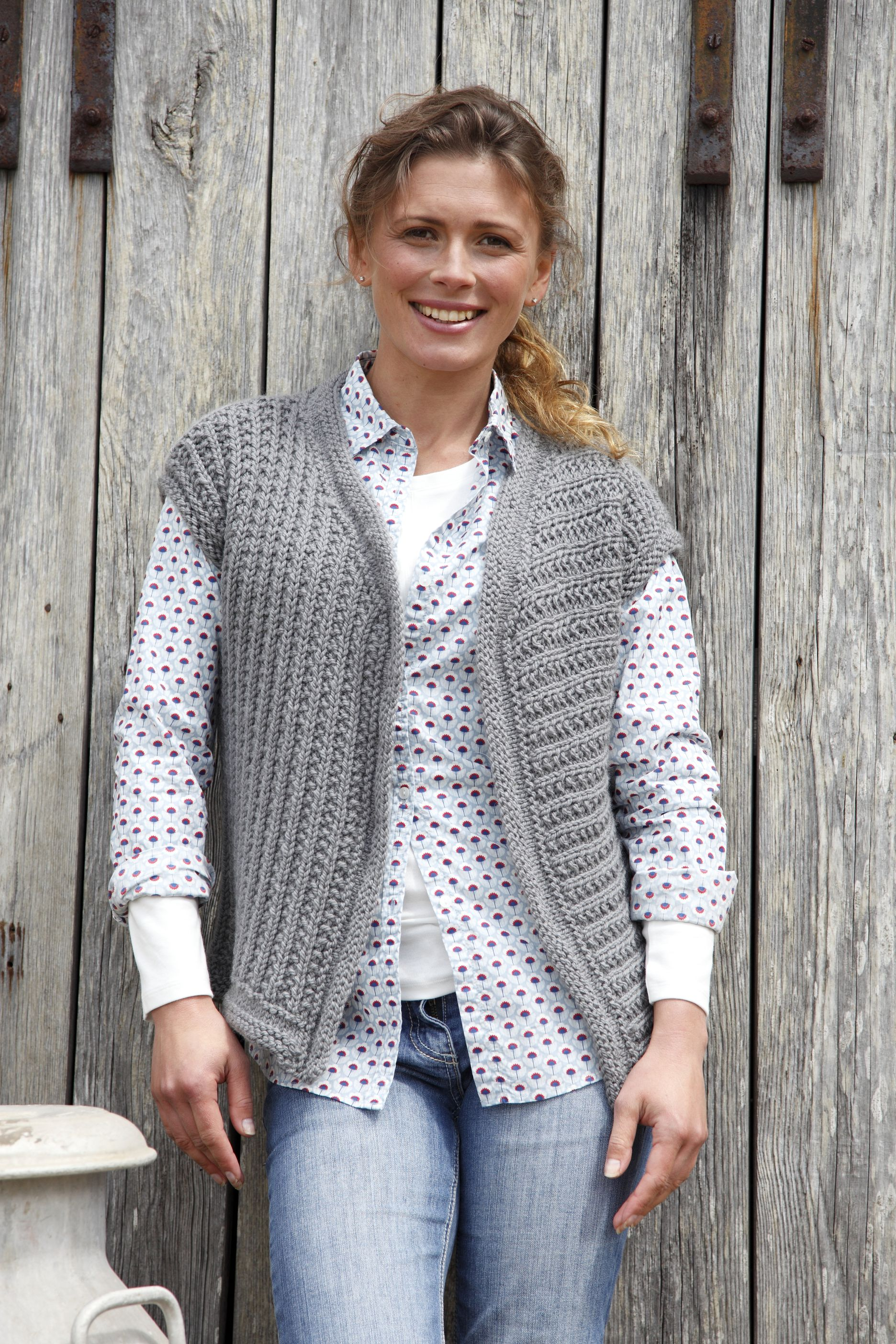 Artesano Ladies Waistcoat   Knitting Patterns   Let's Knit ...
