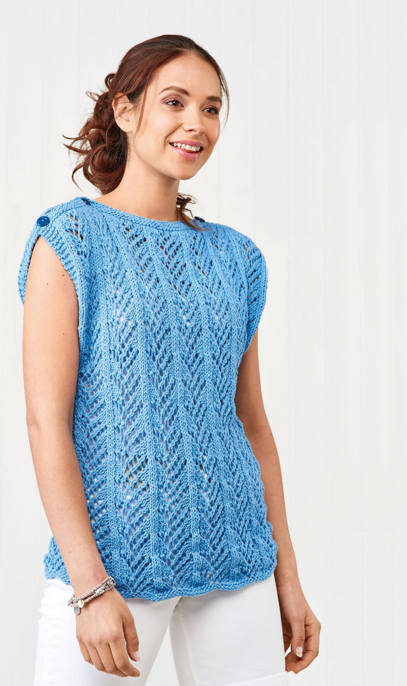 Eco Cotton Easy Knitted Top   Knitting Patterns   Let's ...