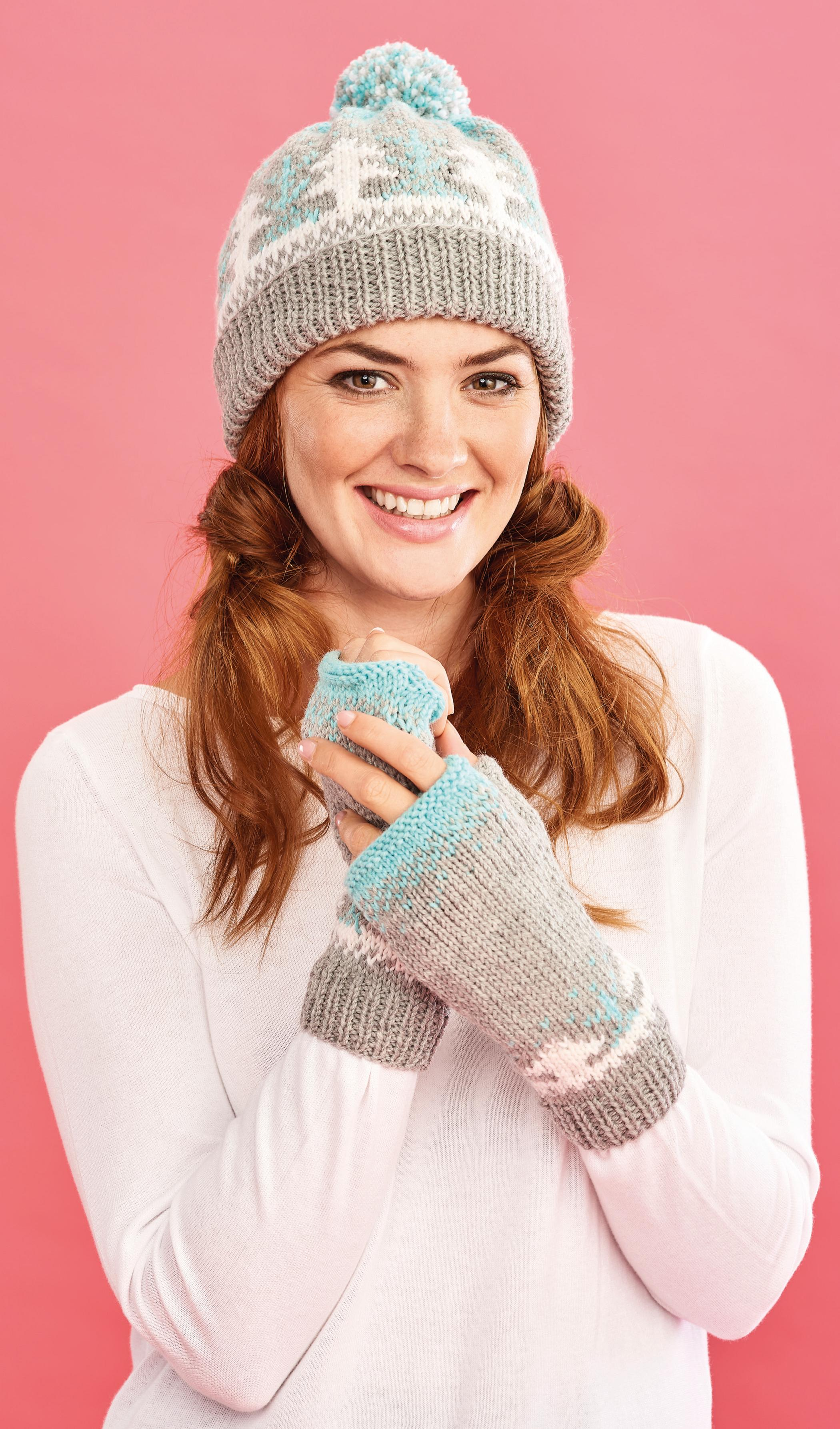Fair Isle Forest Hat and Mittens | Free Knitting Patterns ...