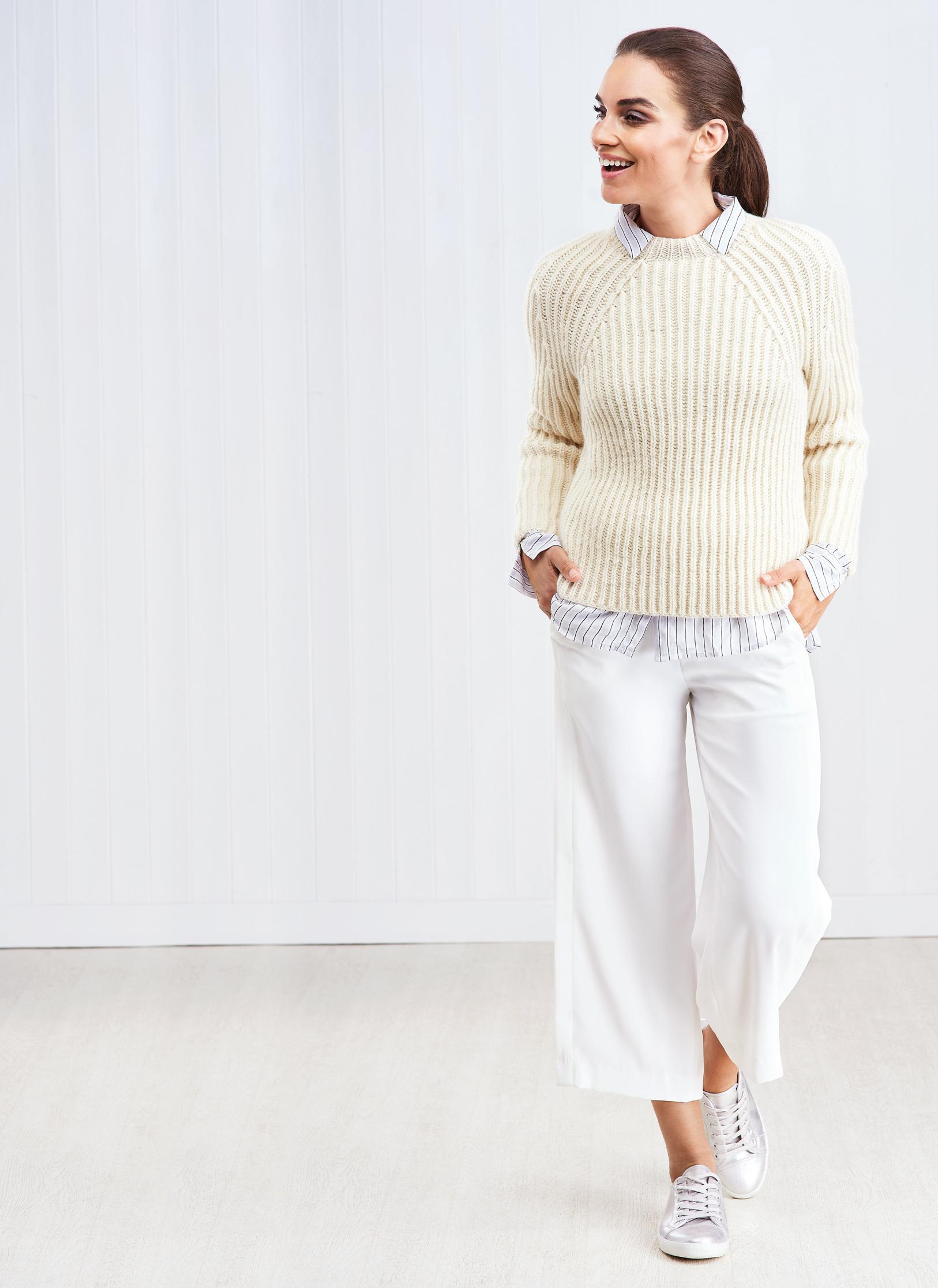 Fisherman's Rib Sweater | Knitting Patterns | Let's Knit ...