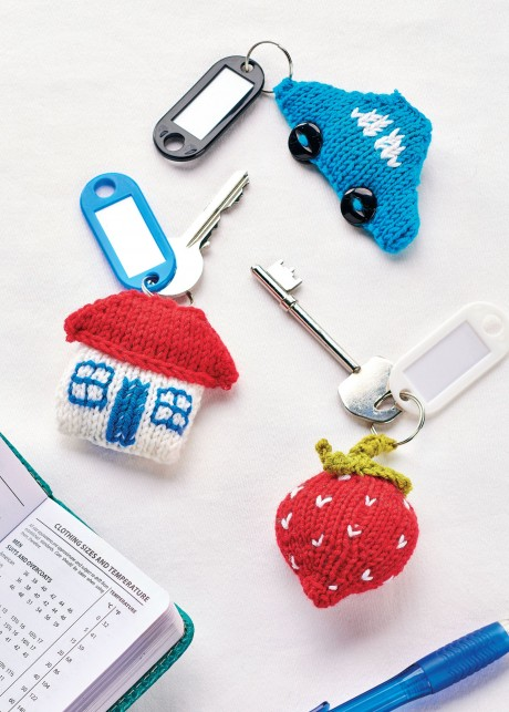 Quirky Keyrings   Knitting Patterns   Let's Knit Magazine