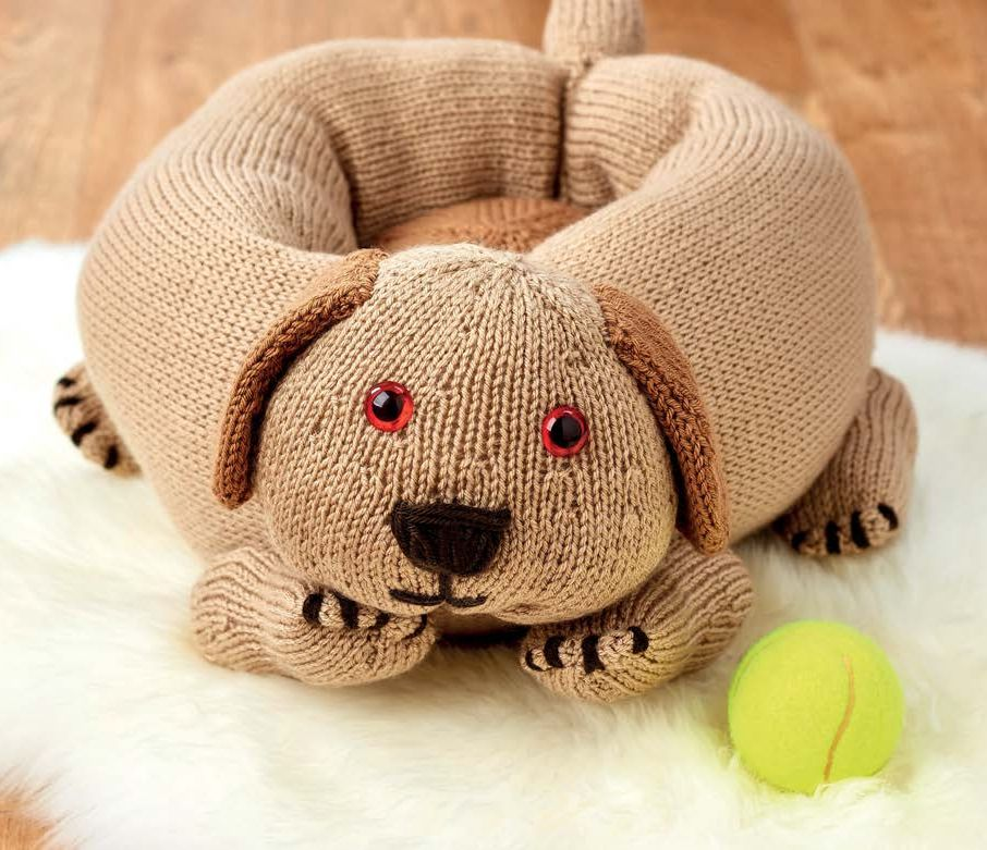 Knitted Dog Bed   Knitting Patterns   Let's Knit Magazine