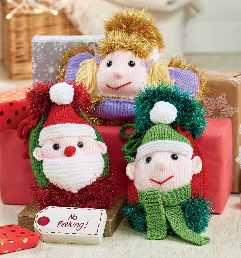 Quick Christmas Gift Bags | Knitting Patterns | Let's Knit