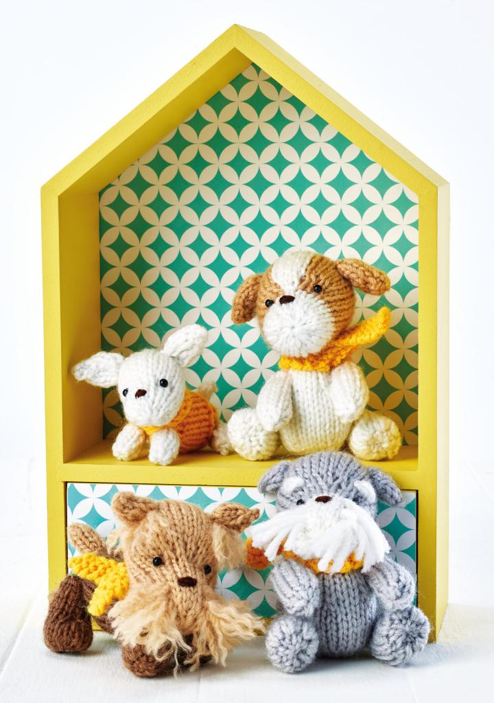 Knitted Puppy Set Free Knitting Patterns Let S Knit