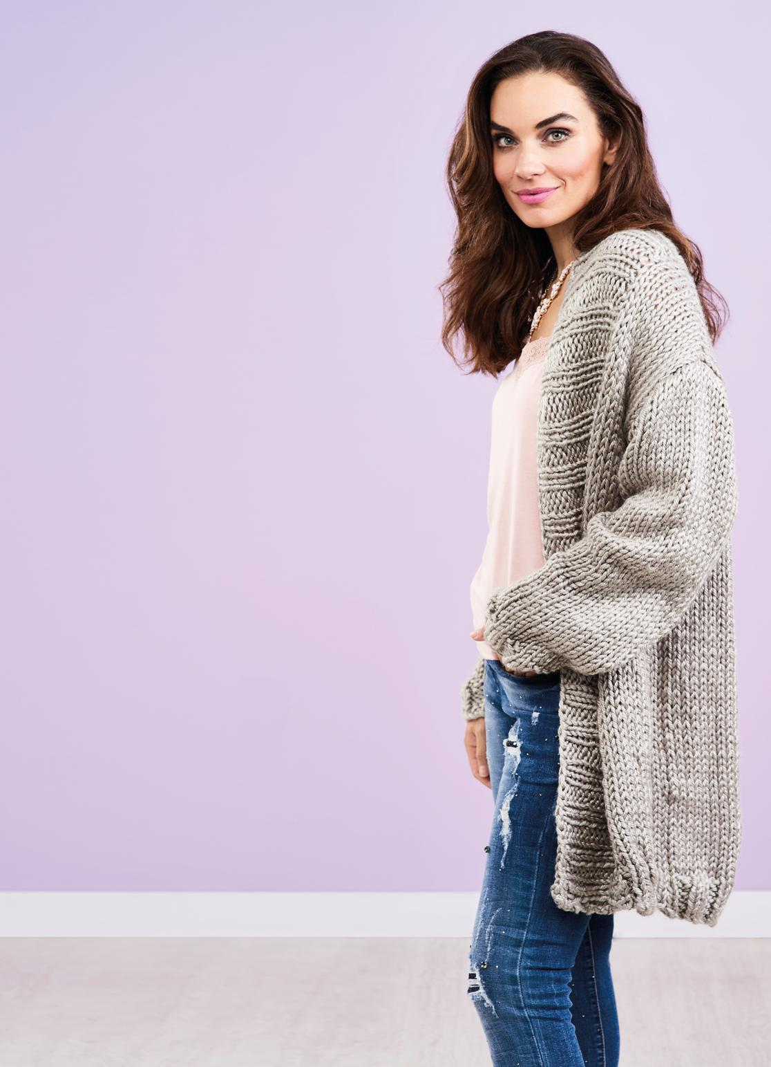 Long Super Chunky Cardigan | Free Knitting Patterns | Let ...