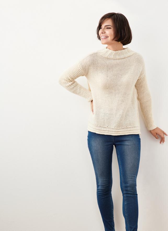 Modern Split Seam Sweater | Knitting Patterns | Let's Knit ...