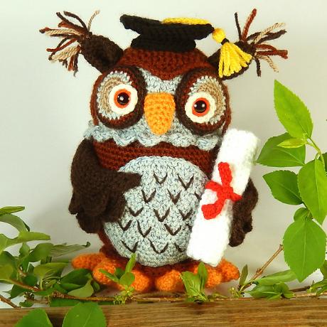 moji-moji owl crochet amigurumi