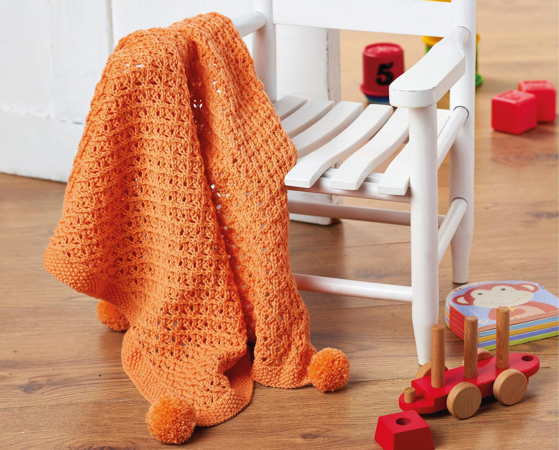 Pom Pom Baby Blanket Knitting Patterns Let S Knit Magazine