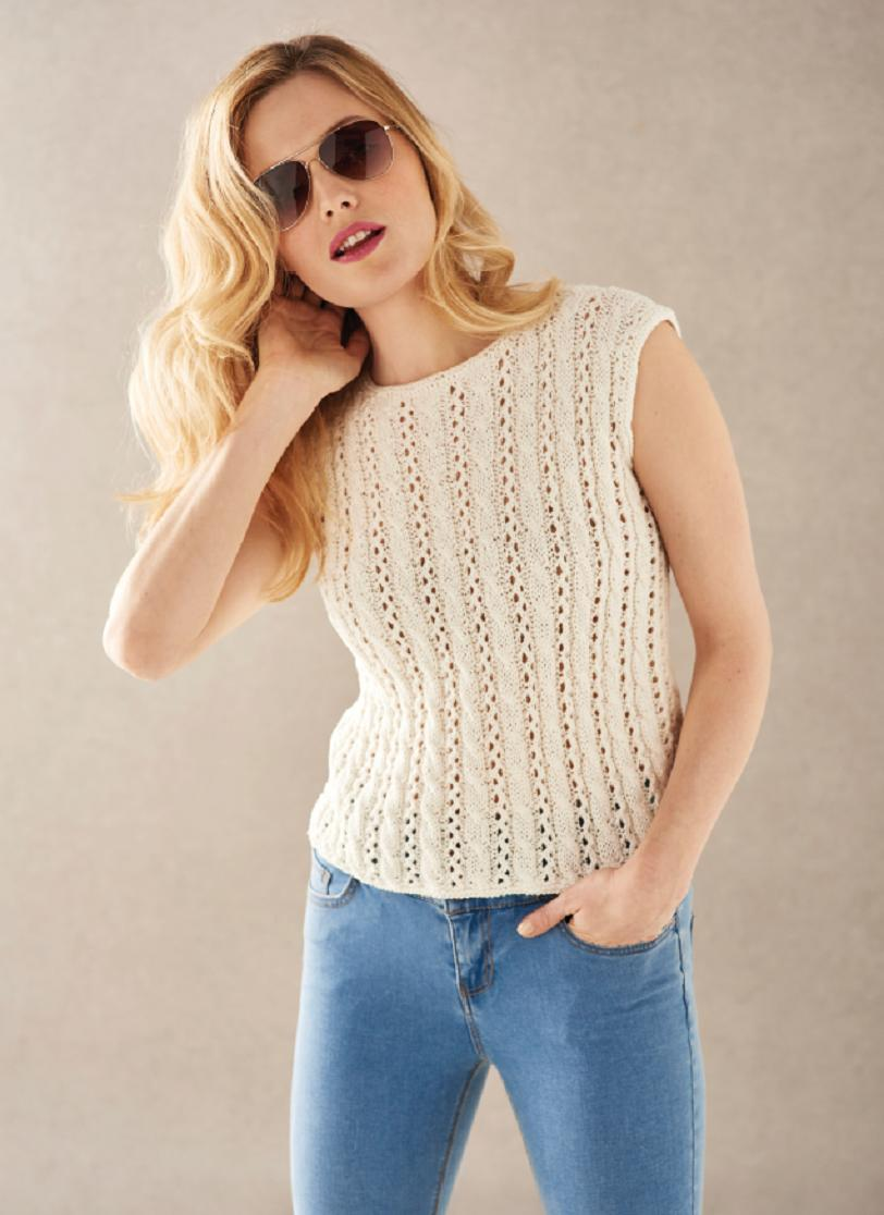 Short sleeve top | Free Knitting Patterns | Let's Knit ...