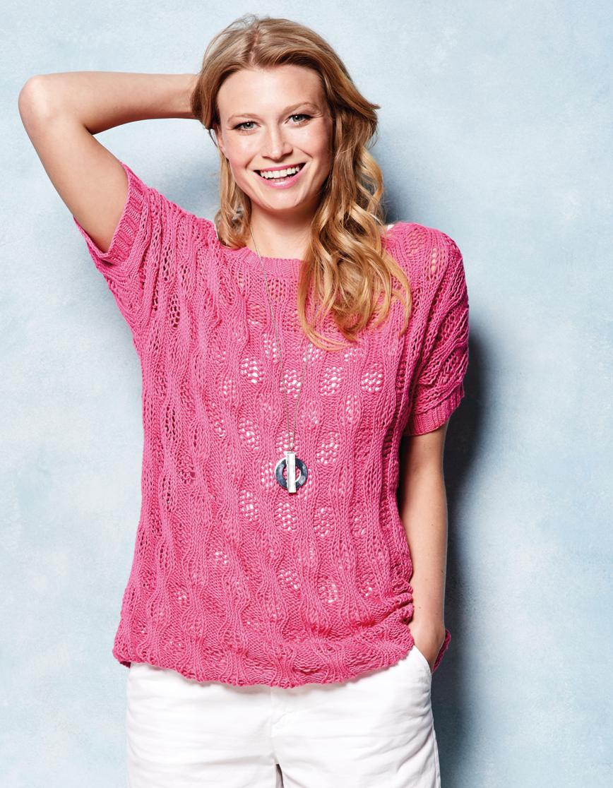 Short sleeve top | Knitting Patterns | Let's Knit Magazine