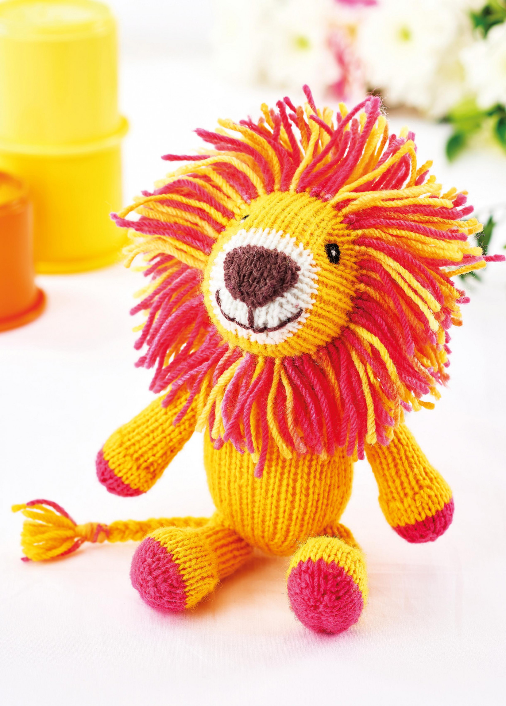 Simple Lion Toy | Knitting Patterns | Let's Knit Magazine