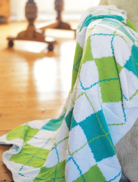 Argyle Blanket   Free Knitting Patterns   Let's Knit Magazine