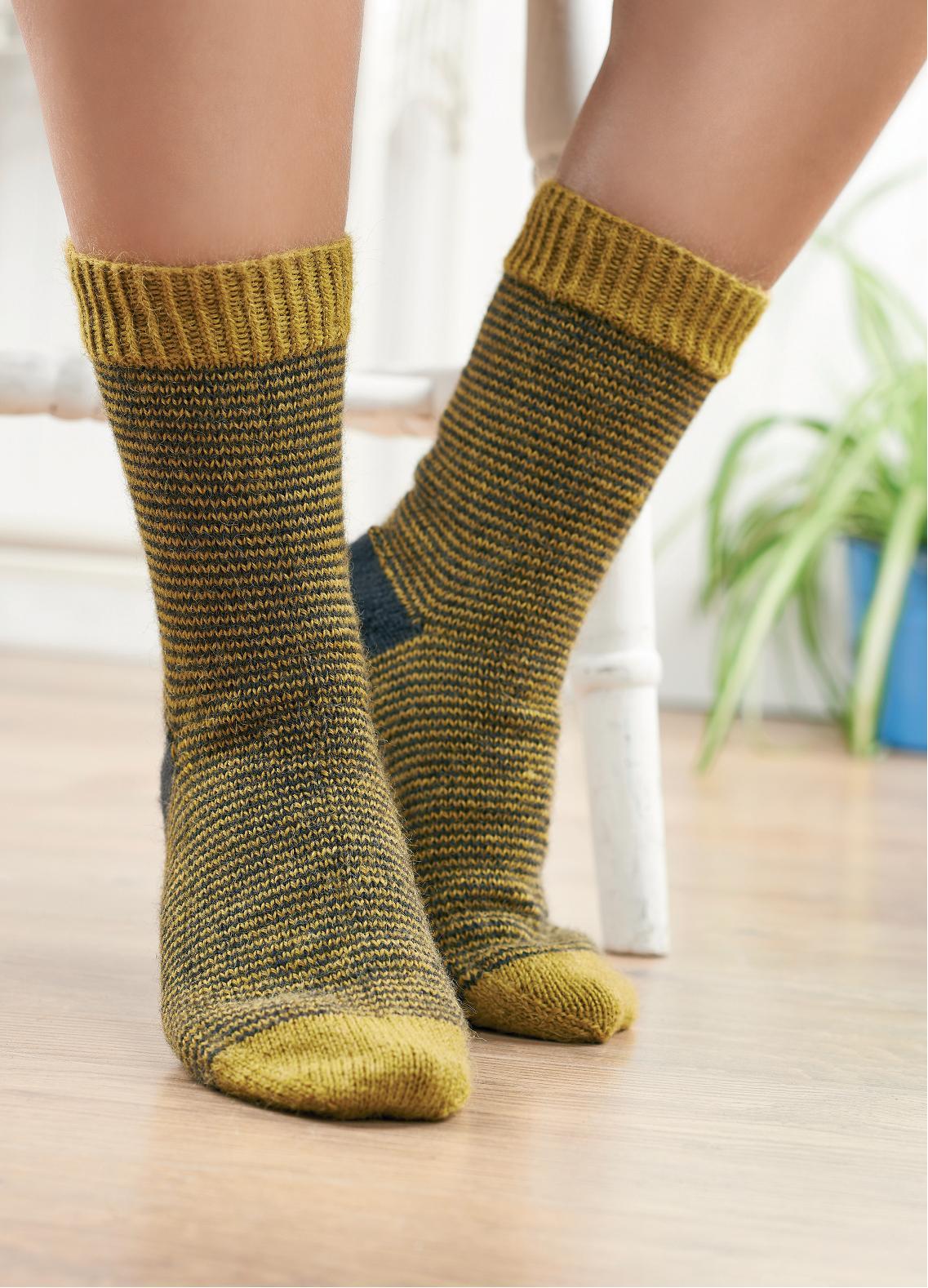 Striped mens socks   Free Knitting Patterns   Let's Knit ...