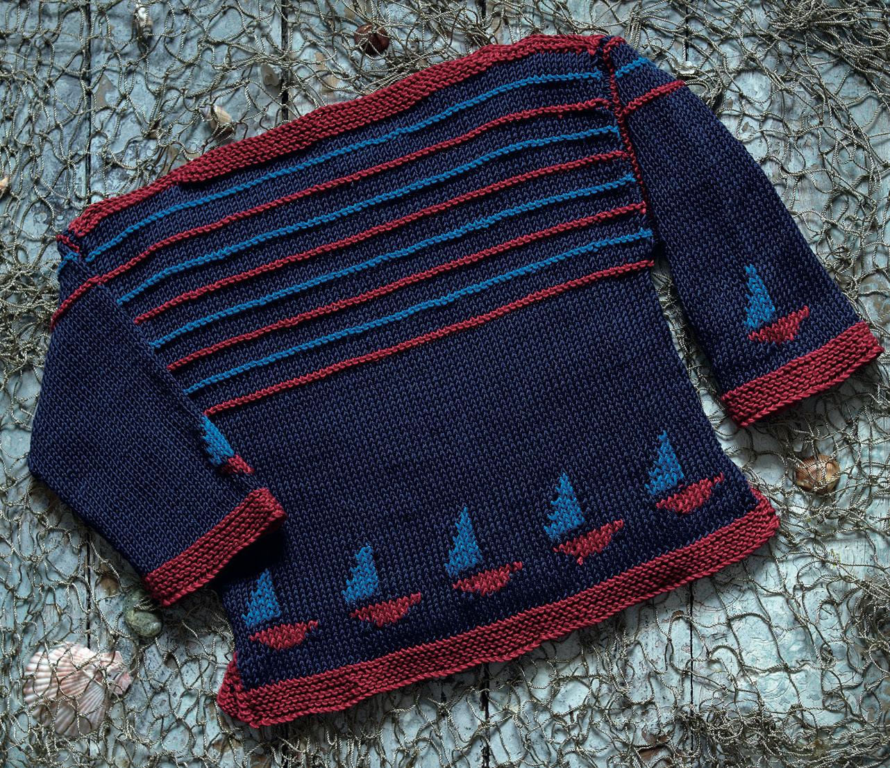 Child's Sailing Jumper   Free Knitting Patterns   Let's ...