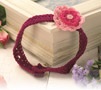 Girl's crocheted flower headband
