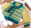 Vintage baby cardigan and bootee set