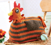 Knitted chicken doorstop