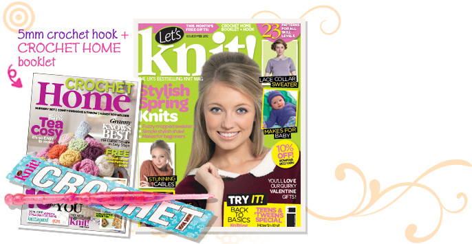 Check out the latest issue of Let's Knit! Magazine