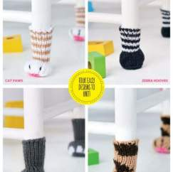 Animal Chair Leg Covers Knitting Pattern