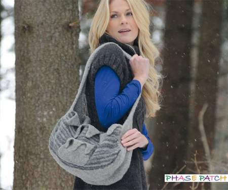 Trendy Felted Handbag Knitting Pattern
