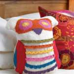 Owl Cushion Knitting Pattern