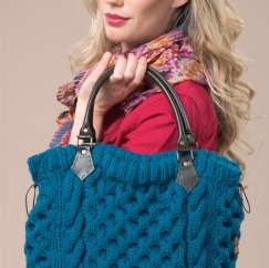 Cabled tote bag Knitting Pattern