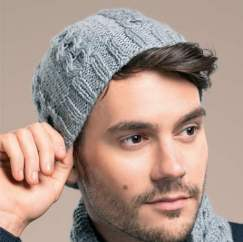 Man's hat and scarf Knitting Pattern