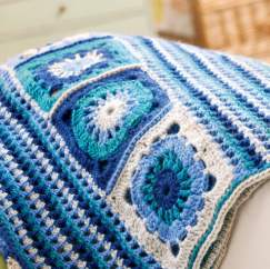 Granny Square Crochet Blanket Knitting Pattern